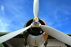 Vintage Bomber Propeller Aircraft and Plane Engine Stock Images