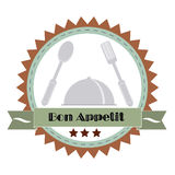Vintage Bon Appetit Poster . Vector illustration. Stock Photography