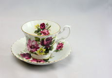 Vintage Bone China Tea Cup and Saucer 2. Vintage bone china tea cup and saucer ready for a relaxing afternoon tea royalty free stock photography