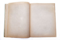 Vintage Book. Open book with blank pages isolated on white background Royalty Free Stock Images