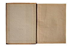 Vintage book. Open old book isolated with white background royalty free stock photography