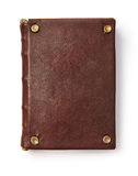 Vintage book with blank leather cover Stock Images