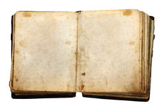 Vintage book with blank pages. Isolated on white background with clipping path royalty free stock photos