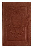 Vintage book brown embossed Stock Photography