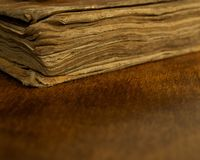Vintage book close-up Royalty Free Stock Photography