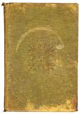 Vintage Book Cover. Worn vintage book cover with designs royalty free stock image
