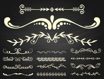 Text separator decoratice divider book typography ornament design elements vector vintage dividing shapes illustration. Vintage book divider shape text separator Stock Images