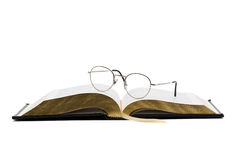 Vintage book with glasses Stock Image