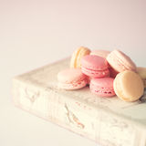Vintage book and macaroons Royalty Free Stock Photos