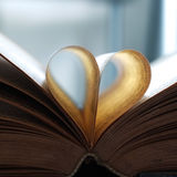 Vintage book pages. Heart shaped Stock Images