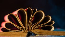 Vintage book pages Stock Image