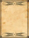 Vintage book paper Stock Image