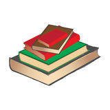 Vintage Book pile. A vector illustration of vintage Book pile Stock Photos
