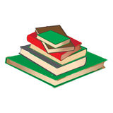 Vintage Book pile. A vector illustration of vintage Book pile Stock Photo
