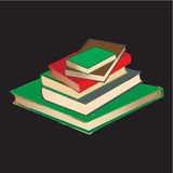Vintage Book pile. A vector illustration of vintage Book pile Royalty Free Stock Image