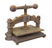 Vintage book press isolated. Royalty Free Stock Photo