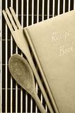 Vintage book of recipes Stock Images