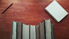 Vintage book table Royalty Free Stock Image