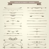 Vintage book vignettes, dividers and separators - elegant delimi. Vintage book vignettes, dividers and separators - set of elegant delimiters Royalty Free Stock Photography