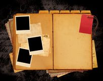Vintage book website layout. Vintage old book website layout royalty free illustration