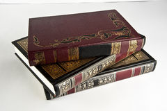 Vintage books. A set of vintage books with nice designs Royalty Free Stock Image