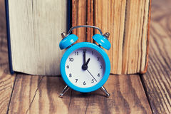 Vintage books and an alarm clock Stock Image