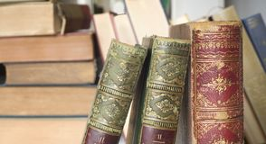 Vintage books close up Royalty Free Stock Photography