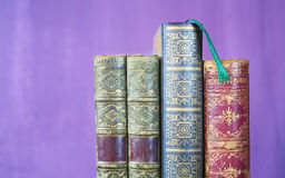 Vintage books, close up Stock Photo