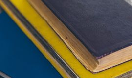 Vintage books close-up royalty free stock photography
