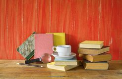 Vintage books royalty free stock images