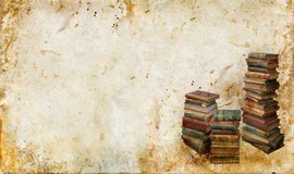 Vintage Books on a grunge background Royalty Free Stock Image