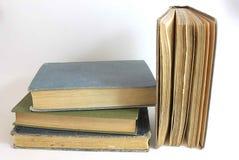 Vintage Books. Isolated on white background Stock Image