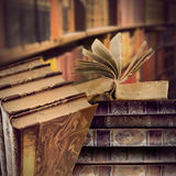 Vintage books in library Royalty Free Stock Photo