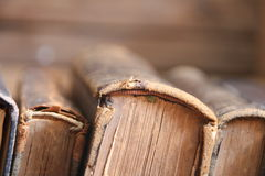 Vintage books in the Library, soft focus. Education, Science idea. Royalty Free Stock Images
