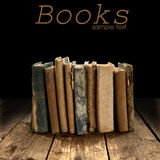 Vintage books lined up Royalty Free Stock Image