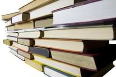 Vintage books in a row,. Clipping path Stock Images