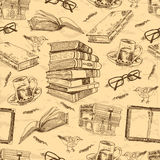 Vintage books seamless pattern Stock Images