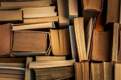Vintage books, view from above stock photography