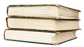 Vintage books are on white background Stock Photography