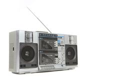 Vintage Boom Box Cassette Tape Player Royalty Free Stock Images