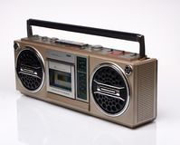 Vintage boom box on white background Stock Image