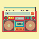 Vintage Boombox Banner Royalty Free Stock Photo