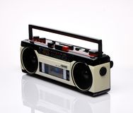 Vintage boombox on white background Royalty Free Stock Photos