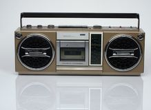 Vintage boombox on white background Stock Photography