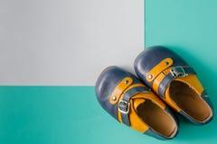 Vintage booties on plain background Stock Photo
