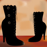 Vintage Boots Royalty Free Stock Photography