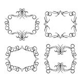 Vintage border design elements, black on white background. Vector Stock Photo