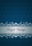 Vintage border design. Flourish ornament. Floral p Royalty Free Stock Images