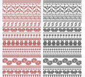 Vintage border designs. Handdrawn vintage border designs can be use for henna designs as well Stock Images