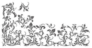 Vintage border with floral ornament Stock Photo